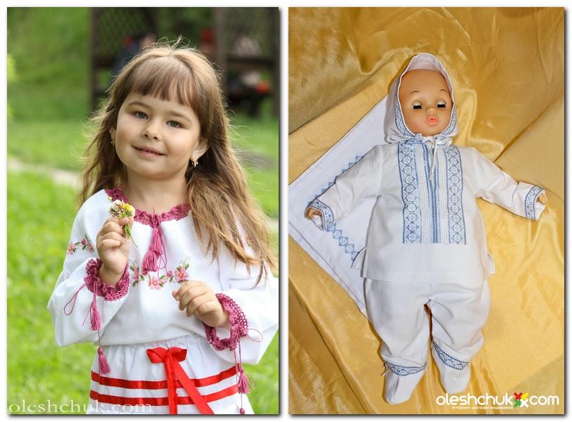 дитячі вишиванки та вишиванки для хрещення немовлят