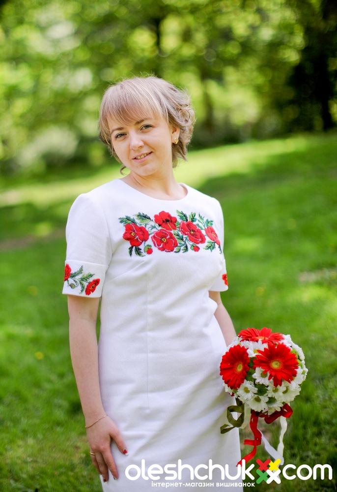 Вишита сукня долина маків