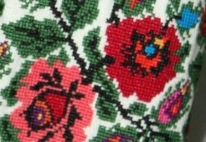 Фрагмент узора борщевской вышиванки