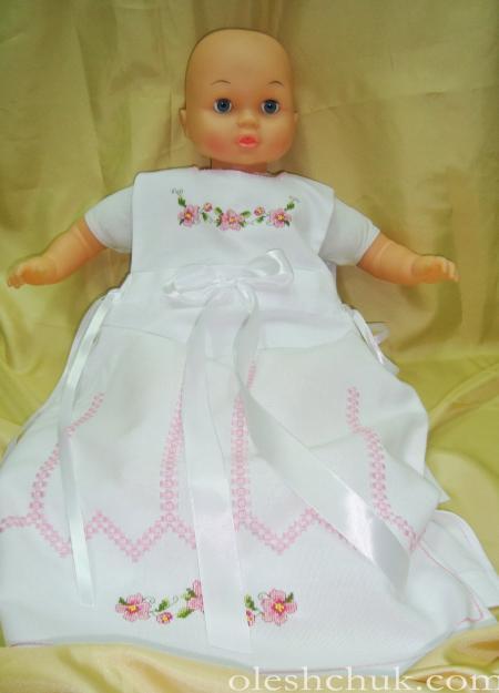 вишитий костюм для хрещення дівчинки, фото1