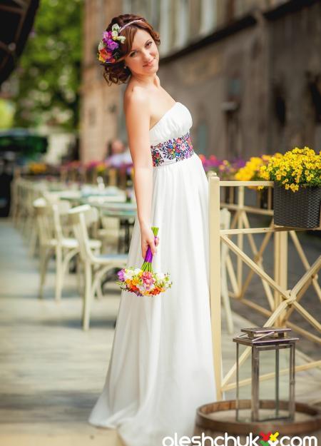 """весільне плаття з вишивкою """"Симфонія літа"""""""