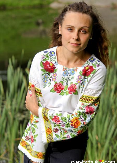 """вишита сорочка хрестиком """"Подих літа"""", фото1"""