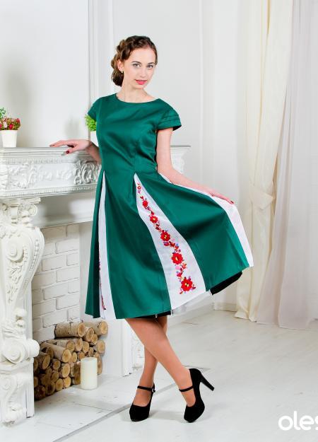 """Вишита сукня """"Смарагдовий сад"""". Фото 1"""