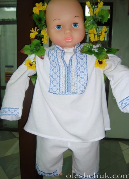 вишитий одяг для хрещення хлопчика, фото1