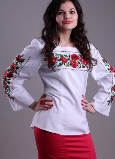 """жіноча вишита сорочка """"Долина маків"""""""