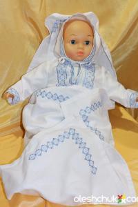 вишитий набір для хрещення немовлят