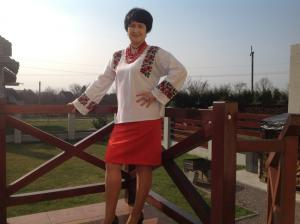 <p>Наталья Дячук в женской вышиванке от Oleshchuk</p>