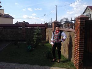 <p>Наталья Дячук в женском вышитом жакете от Oleshchuk</p>